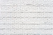 Uneven brick wall painted white. Soft lighting with good detail.Related image: