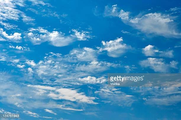 背景-青い空に雲