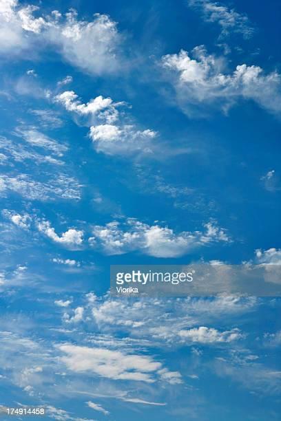 Sfondo di nuvole nel cielo blu
