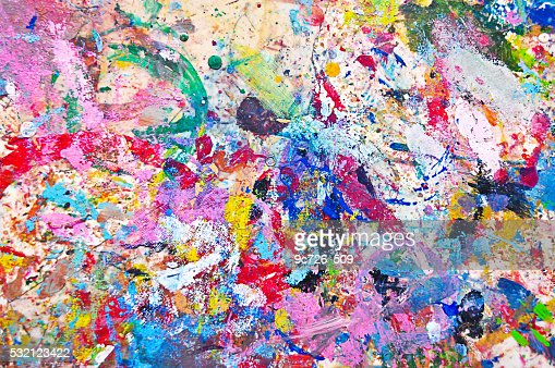 Background Colorful Paint : Stock Photo