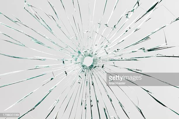 A background consisting of broken glass