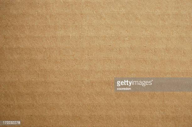 Background design of corrugated brown cardboard