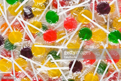 Background filled with colorful lollipops