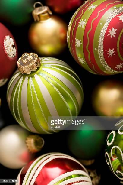 A background full of Christmas ornaments