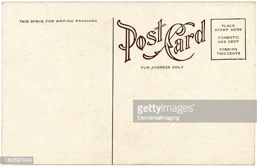 Background image of a blank beige vintage back of a postcard