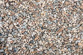 Background ot texture made of multicolored pebbles