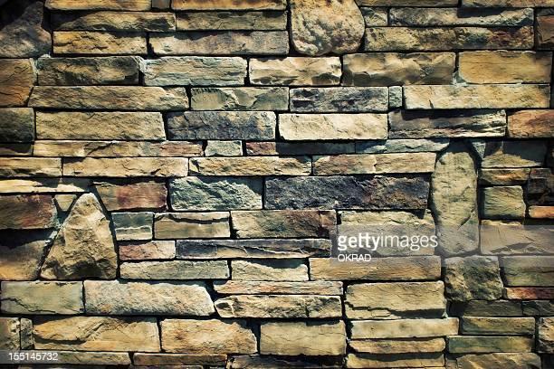 Hermoso fondo de una pared de piedra de efecto