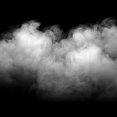 Background of abstract grey color smoke isolate on black color background. with copy space