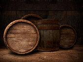 background of barrel, barrel, wine, cellar,  table