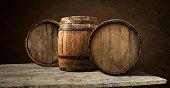 background of barrel, wood, black wooden cork