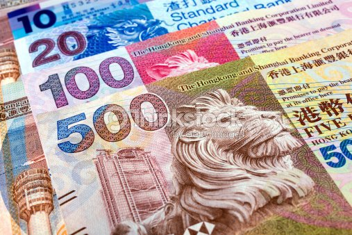 Background Of Colorful Hong Kong Dollar Notes Stock Photo Thinkstock