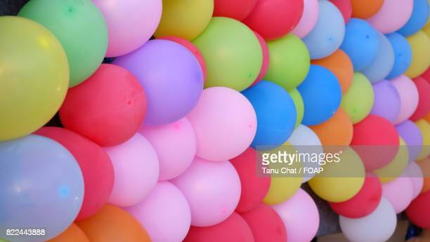 Background of colourful balloons