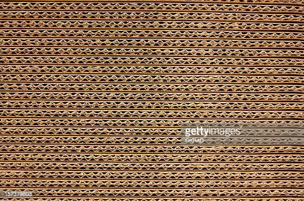 Fondo de cartón corrugado marrón
