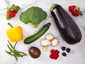 A Background of Fresh Fruits and Vegetables