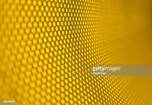 Background of honeycombed yellow texture