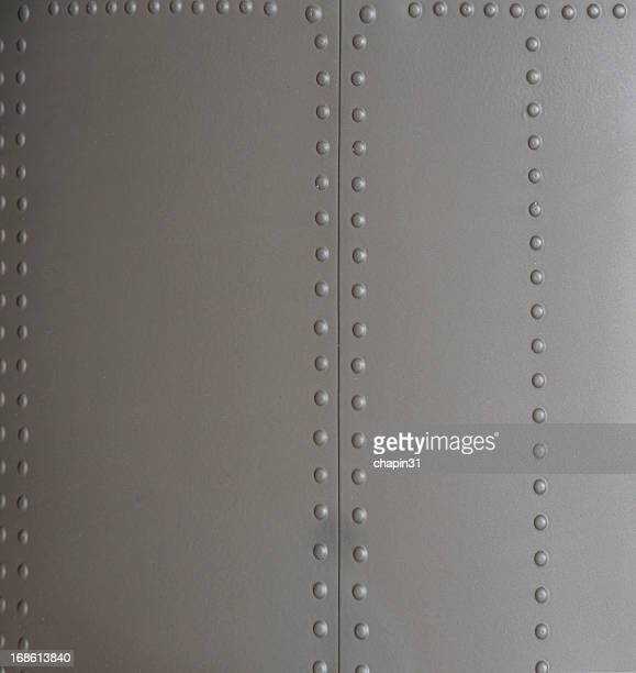 Background of Metal Siding with Rivets