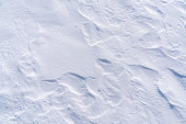 Background of snow texture in blue tone.