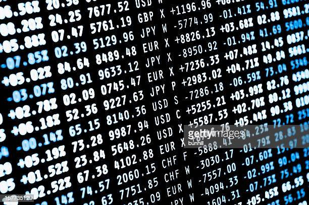stock market als Nummern-Finanzen Währung Daten