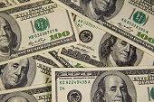 Background of the hundred dollar bills