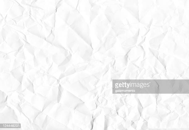 A background of white crumpled paper