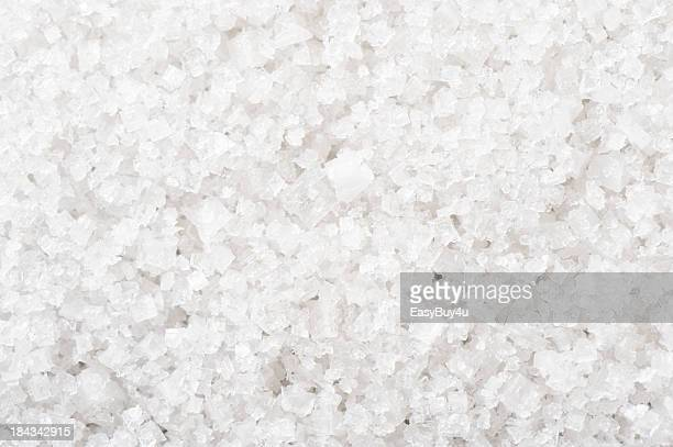 A background of White Sea salt