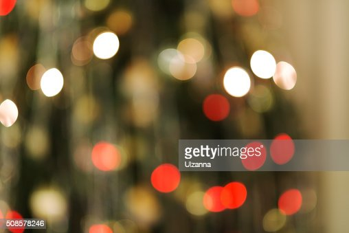 Background with bokeh defocused Christmas lights and stars. : Stock Photo