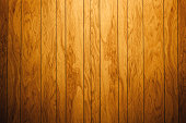A dramatically lit retro wood paneled wall, ready to be used as a design element or placed behind your isolated image/text as a background. Horizontal with copy space.