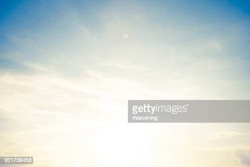 backgrounds vintage soft sky with sunlight : Stock Photo