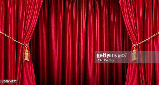 Background/theatre red curtains