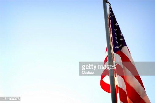 Backlit American Flag