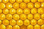 Backlit honeycomb.