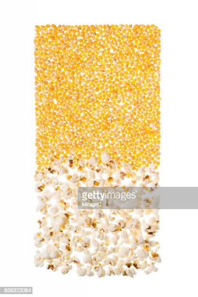 Back-lit Illuminated Popcorn and Corn Grains