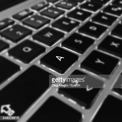 Backlit Keyboard Of Laptop
