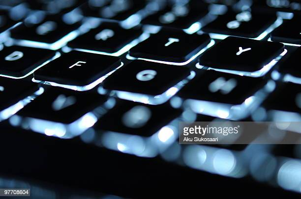Backlit keyboard oflaptop