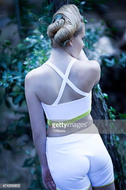 Backof fashion woman