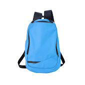 Blue rucksack isolated on white background w/ clipping path.