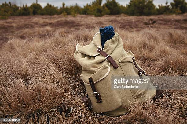 Backpack on the grass