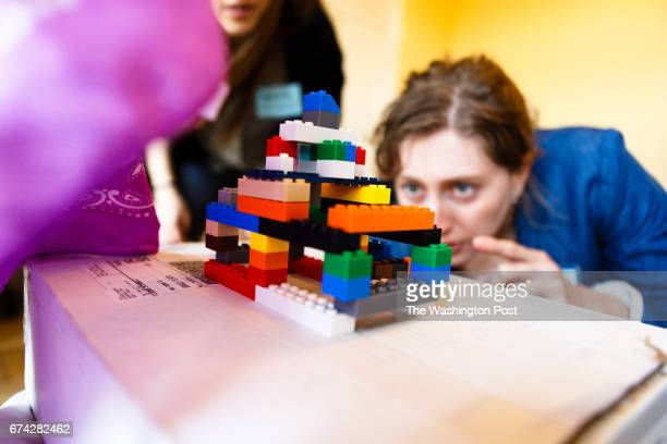 MARCH 9 2017 Backroads tour guide candidates take part in an exercise that requires them to build a copy of a Lego structure based off of the memory...