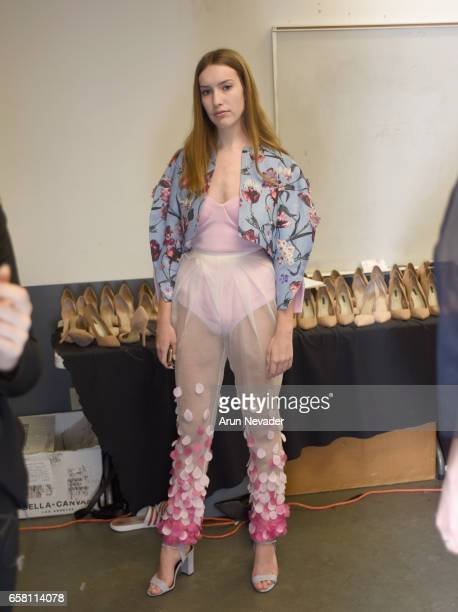 Backsatage at Vancouver Fashion Week Fall/Winter 2017 at Chinese Cultural Centre of Greater Vancouver on March 26 2017 in Vancouver Canada