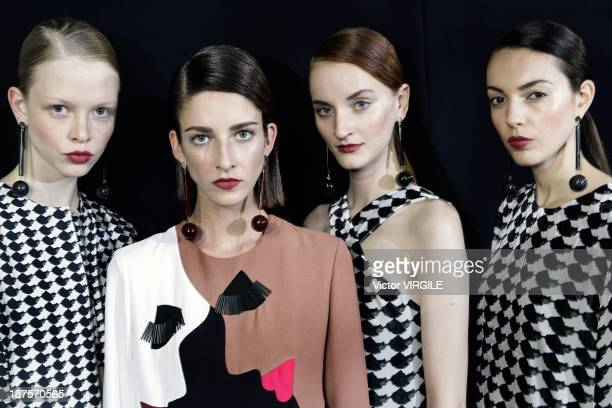 Backstage and atmophere during the Andrea Marques show as part of the Rio de Janeiro Fashion Week Fall/Winter 2014 on November 9 2013 in Rio de...