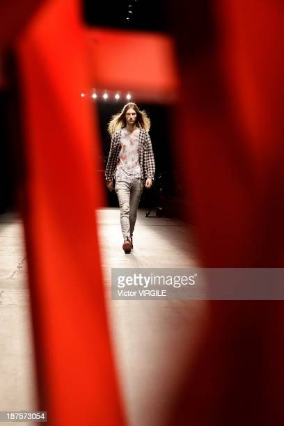Backstage and atmosphere during the 2nd Floor show as part of the Rio de Janeiro Fashion Week Fall/Winter 2014 on November 8 2013 in Rio de Janeiro...