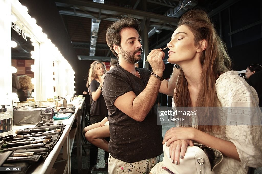 Backstage and atmosphere during the Auslander Fall/Winter 2013 fashion show at Fashion Rio on November 09, 2012 in Rio de Janeiro, Brazil.