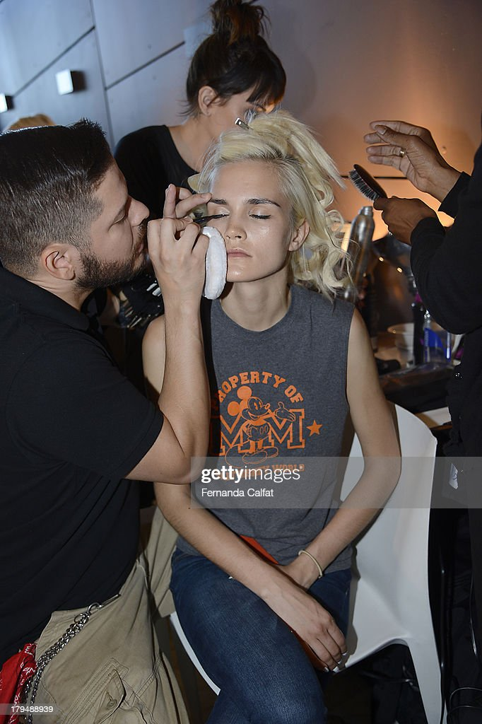 Backstage at Kye presentation during Mercedes-Benz Fashion Week Spring 2014 at The Standard Hotel - High Line Room on September 4, 2013 in New York City.