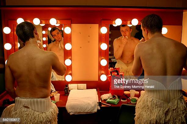Backstage at the preview of the all male Swan Lake production by Matthew Bourne performed at The Capitol Theatre 21 August 2006 SMH Picture by STEVEN...