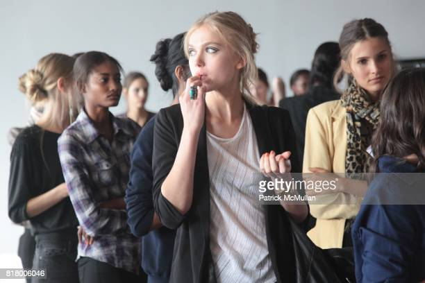 Backstage at the RACHEL COMEY Spring 2011 Fashion Show at Pier 59 on September 09 2010 in New York City