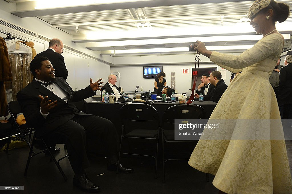 Backstage before Apollo Club Harlem at The Apollo Theater on February 18, 2013 in New York City.