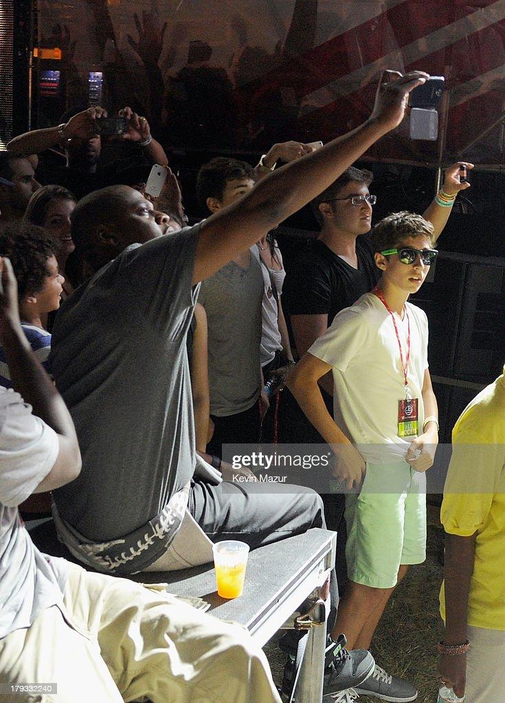JAY Z backstage during the 2013 Budweiser Made In America Festival at Benjamin Franklin Parkway on September 1, 2013 in Philadelphia, Pennsylvania.