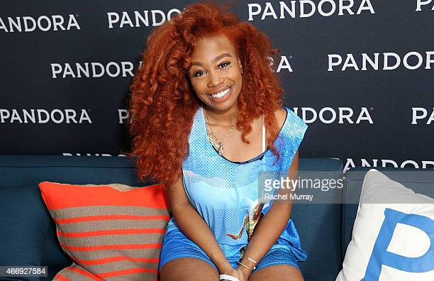 SZA backstage during the PANDORA Discovery Den SXSW on March 19 2015 in Austin Texas