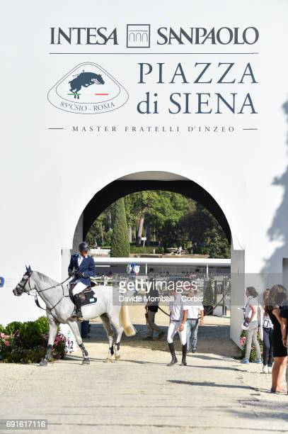 Backstage during the Piazza di Siena Bank Intesa Sanpaolo in the Villa Borghese on May 27 2017 in Rome Italy