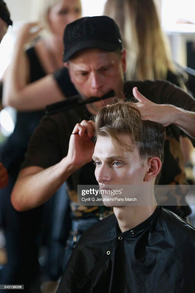 Backstage during the Y-3 SS17 Paris Fashion Week Show on June 26, 2016 in Paris, France.